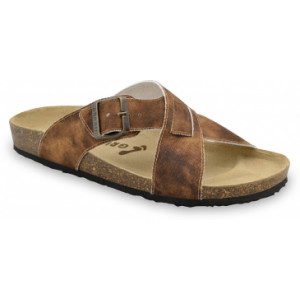 GRUBIN muške papuče 1084030-BORSALINO, Braon 40-49
