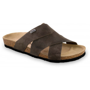 GRUBIN muške papuče 1554010 Morandi Braon 40