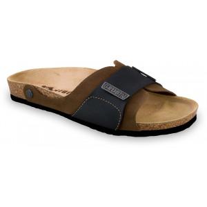 GRUBIN muške papuče 1594010 DARKO Braon 40