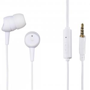 HAMA Slušalice + mikrofon za smartfon BASIC bele 137436