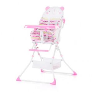 CHIPOLINO Stolica za hranjenje MAGGY pink bear 710064
