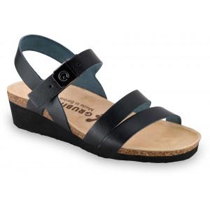 GRUBIN ženske sandale 1263650 LUCCA Crne