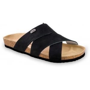 GRUBIN muške papuče 1554010 Morandi Crne 40