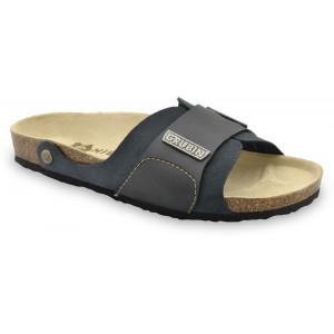 GRUBIN muške papuče 1594010 DARKO Crne 40