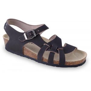 GRUBIN ženske sandale 203550 PISA Crne
