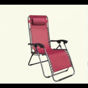 MESSINA baštenska stolica podesiva sa jastukom metalna 055680