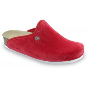 GRUBIN ženske papuče tople 157366 CAKI Crvene