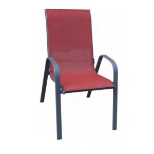 Baštenska stolica crvena Como 051111