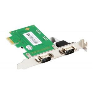 PCIe kontroler 2X serial port (RS232,DB-9)