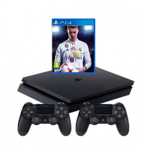 SONY PlayStation 4 500GB + PS4 Dualshock crni + FIFA 2018