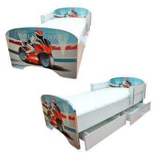 ARISTOM dečiji krevet sa fiokama 803 blue motor