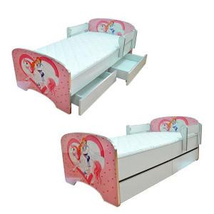 ARISTOM dečiji krevet sa fiokama 803 pink princess