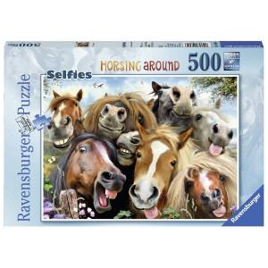 RAVENSBURGER puzzle (slagalice) - konji se slikaju RA14695
