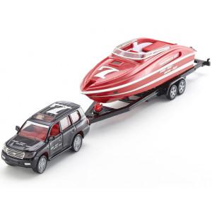 SIKU auto sa čamcem na prikolici 2543