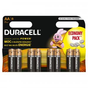 DURACELL baterije basic AA 8kom duralock 508185