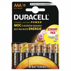 DURACELL baterije basic AAA 8kom duralock 508218