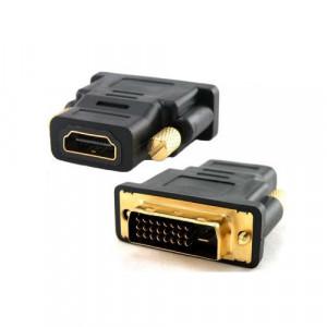 LINKOM adapter DVI (24+1) na HDMI (m/ž) black D001680