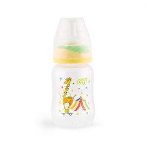 ELFI plastična flašica sa silikonskom cuclom 125ml – RK03 ŽIRAFA