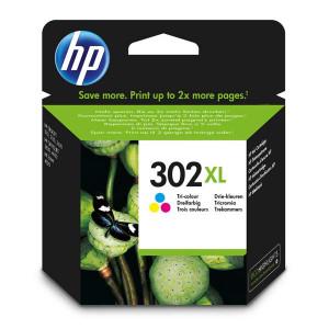 HP ketridz 302xl high yield tri-color original ink cartridge f6u67ae