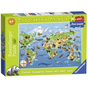 RAVENBURGER puzzle (slagalice) - Ugrozene zivotinje RA05515