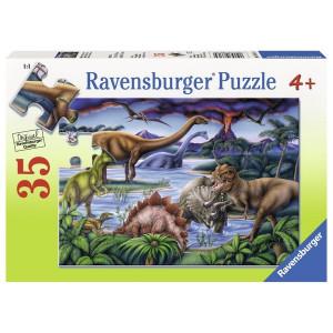RAVENSBURGER puzzle (slagalice) - igralište za dinosauruse RA08613