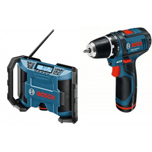 BOSCH radio GML 10,8 V-Li + aku. bušilica-odvrtač GSR 10,8-2-Li
