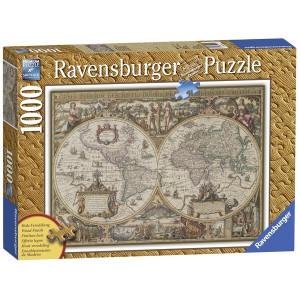 RAVENSBURGER puzzle - Antička karta sveta 1000 RA19004