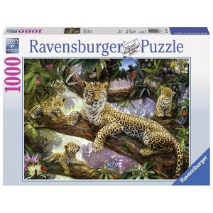 RAVENSBURGER puzzle - porodica leoparda RA19148