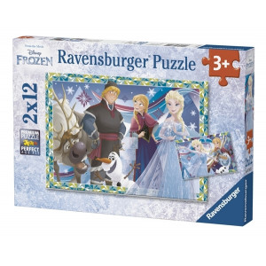 RAVENSBURGER puzzle (slagalice) - zimske igre RA07621