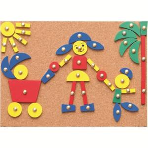 WOODY Napravi razne oblike na tabli od plute 90707