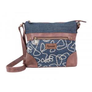 PULSE torba na jedno rame jeans glossy 121357