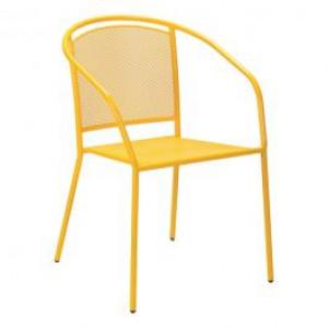 ARKO baštenska metalna stolica žuta 051115