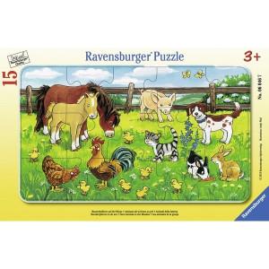 RAVENSBURGER puzzle (slagalice) - Životinje RA06046