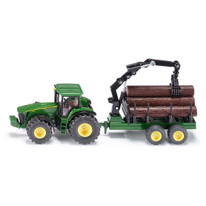 SIKU igračka Traktor sa šumskom prikolicom 1954