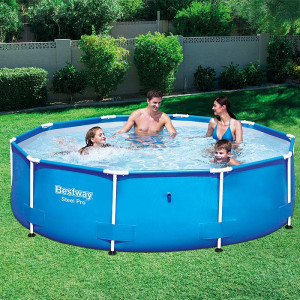Bestway Bazen 305x76cm za dvorište sa čeličnim ramom Max Pool 56406
