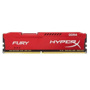 KINGSTON ram memorija DIMM DDR4 8GB 2400MHz HX424C15FR2/8 HyperX FURY Red