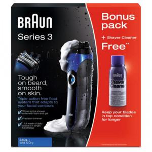 BRAUN 340S-4 W&D brijač + poklon
