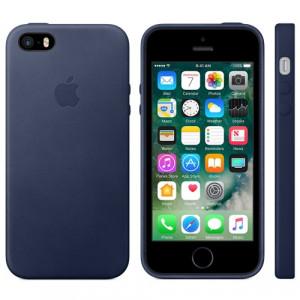 APPLE iPhone SE Leather Case - Midnight Blue MMHG2ZM/A