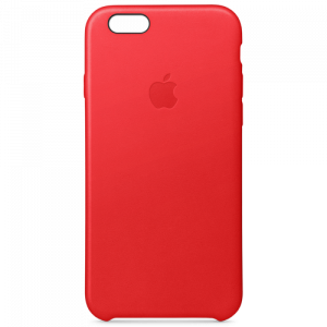 APPLE iPhone 6s Leather Case - (PRODUCT)RED MKXX2ZM/A