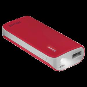 TRUST baterije primo PowerBank 4400 prenosivi punjac crveni 21226