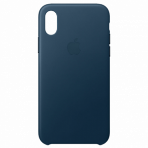 APPLE iPhone X Leather Case - Cosmos Blue MQTH2ZM/A