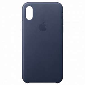 APPLE iPhone X Leather Case - Midnight Blue MQTC2ZM/A