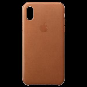 APPLE iPhone X Leather Case - Saddle Brown MQTA2ZM/A