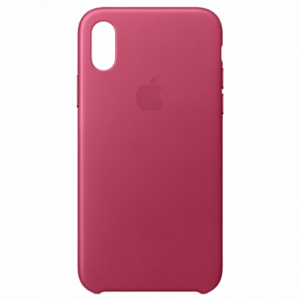 APPLE iPhone X Leather Case - Pink Fuchsia MQTJ2ZM/A