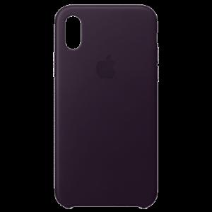 APPLE iPhone X Leather Case - Dark Aubergine MQTG2ZM/A