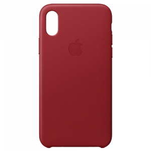 APPLE iPhone X Leather Case - (PRODUCT)RED MQTE2ZM/A