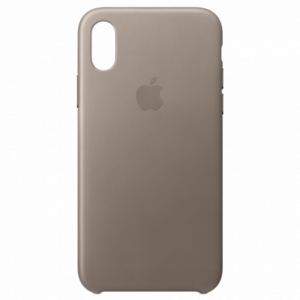 APPLE iPhone X Leather Case - Taupe MQT92ZM/A
