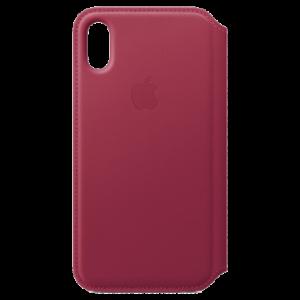 APPLE iPhone X Leather Folio - Berry MQRX2ZM/A