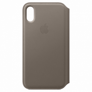 APPLE iPhone X Leather Folio - Taupe MQRY2ZM/A