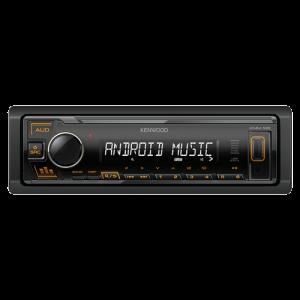 KENWOOD KMM-105AY, Tjuner/USB/AUX, MOSFET 4 x 50W, MP3, ACC, WMA, WAV, FLAC, 1 DIN